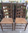 vintage Ladder Back Chairs with Cane Seats -          LOCAL PICKUP ONLY.