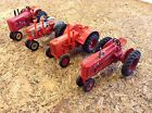 First 4 Toy Farmer 1/43rd Scale Farm Toy Tractors Farmall  Case Massey Ford