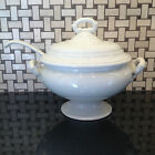Pottery Barn Large Ivory Ceramic Covered Soup Tureen With Ceramic Ladle