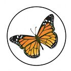 48 MONARCH BUTTERFLY ENVELOPE SEALS LABELS STICKERS 12 ROUND