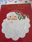FITZ & FLOYD~CHRISTMAS~NOEL CLASSIQUE SANTA~CANAPE' PLATE~NEW IN BOX~SUPER CUTE