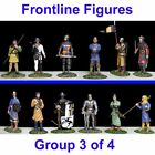 FRONTLINE FIGURES Medieval Metal Toy Soldier Set 54mm New knights 12 Foot LOOK