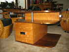 Rare Art Deco Machine Age Russel Wright Heywood Wakefield Corner Table Rohde era