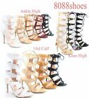 Womens Strappy Cutout Lace Up Open Toe Gladiator High Heel Sandal Size 5 10