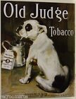 OLD JUDGE TOBACCO metal sign vintage style goodwin  co american tobacco 379