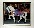 Dallas John White Mount Carousel Horse Limited Edition Serigraph MAKE AN OFFER