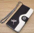 Dragonfly Wallet Leather Flip Handmade Stand Case Cover For Apple iPhoone