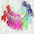 Enamel Ribbon Breast Cancer Awareness Lobster Pendant European Charms Beads DIY