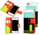 Orange S Leather Wallet  ID  for Apple Iphon 5, 5S Cases Cover