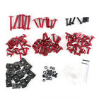 Motorcycle Sportbike Fairing Body Bolts Kit Fastener Clips Screws Red