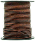 Xsotica Brown Distressed Round Leather Cord 3mm