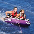 Tube Towable Inflatable Airhead 2 Person Boat Water Ski Rider Lake Sports Rope