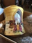 Lt 73 Antique Moorish Moroccan Painted And Fired Hanging Light Shade