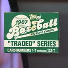 1987 Topps Traded Baseball Complete Box set Greg Maddux RC Card FACTORY SEALED