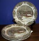 LOT OF 4 JOHNSON BROS FRIENDLY VILLAGE   PLATES 9.75