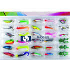 New Lot 30pcs Kinds of Fishing Lures Minnow Baits Crankbaits Fish Hooks Tackle