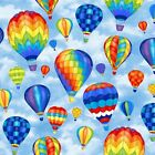Hot Air Balloons by Baum Textile Mills Polar Fleece Fabric by the yard