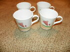 SET OF 4 CORELLE  PACIFIC BLOOM COFFEE CUPS / MUGS