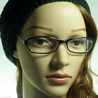 60's Retro Sexy Cat Women Rx Frame Superb Clear Lens Eye Glasses BLACK/CLEAR