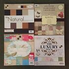12X12 Scrapbook Paper Cardstock LOT New DCWV  Recollections Assorted Stacks