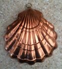 Solid Copper Sea Shell Mold Hanging Stamped Made in Portugal Brass ring