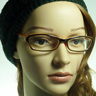 60's Retro Sexy Cat Women Rx Frame Trendy Clear Lens Eye Glasses BLACK/ORANGE