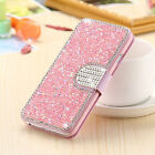 Bling Rhinestone Diamond PU Leather Flip Wallet Case Cover For iPhone  7 8 Plus
