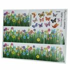 Grass Flower Butterfly Pattern Removable Wall Sticker Decal DIY Home Decor ZH