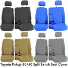 A57 10mm Pickup 60 40 Split Bench Seat Covers Detachable Headrest Custom Fit