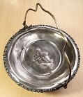 Vtg Poole Silver Co Quadruple Plate Brides Basket #661 Silver Plated Victorian