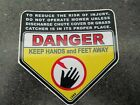 reproduction craftsman snapper toro danger keep hands and feet away deck decal