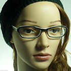 60's Retro Sexy Cat Women Rx Frame Fun Clear Lens Eye Glasses BLACK/WHITE