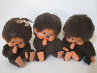 Vintage Monchhichi monchichi Sekiguchi cici Plush monkey doll lot Japan imports