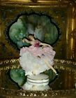 Antique Porcelain Dresden lace figurine lady dancer ballerina gorgeous !