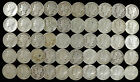1939 MERCURY DIMES VERY FINE VF - ABOUT UNC AU FULL ROLL 50 SILVER COINS