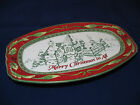 Fitz & Floyd Sentiment Tray Merry Christmas to All Plate 10.25x6