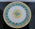 Antique 19th Century WEDGWOOD Basket Weave MAJOLICA Grape Leaves Design Plate