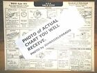1933 Buick EIGHT Series 33-60 Model Optional L.C. Engine AEA Tune Up Chart Sheet