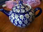 Rare Early Germany Spongeware Teapot marked unknown maker