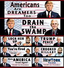 President Donald Trump Bumper Sticker 2016 2020  Drain the Swamp Youre Fired+