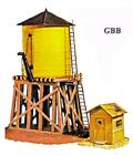 HO Scale Train WATER TANK & EQUIPMENT SHED Kit Model Power New Sealed 428