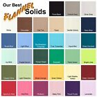 SOLID COLOR FLANNEL Cotton Fabric Premium Yarn Dyed Air Jet Loomed 33 Colors BTY
