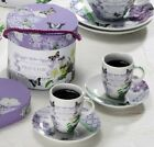 Paperproducts Design Gift Box Demitasse/Espresso Cups, Vintage Violet, Set of 2