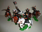 Mounted PRUSSIAN DEATH's HUSSARS DSG Argentina Plastic toy Soldiers set Britains