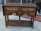 Mary Oak Double drop leaf Buffet serving Table with Drawers