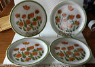 4 Spring Collection Stoneware Meadow Brook Plates Japan 10 1/2