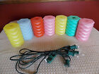 7 Working Vintage Blowmold Lights For RV Camping Party Patio String Lights