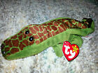 TY Original Beanie Baby ALLY THE ALLIGATOR REPTILE Retired PVC Tag Error MWMT
