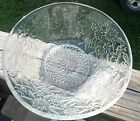 Vintage Clear Glass Bowl with Daisy Flower Design **Great Condtion**