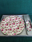 Baum Bros. Formalities Cake Plate and Server - Rose Pattern